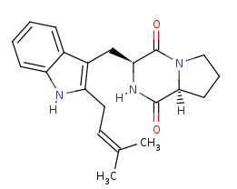 Picture of tryprostatin B (click for magnification)