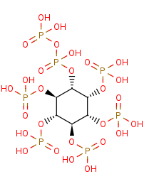Picture of 1-diphospho-1D-myo-inositol 2,3,4,5,6-pentakisphosphate (click for magnification)